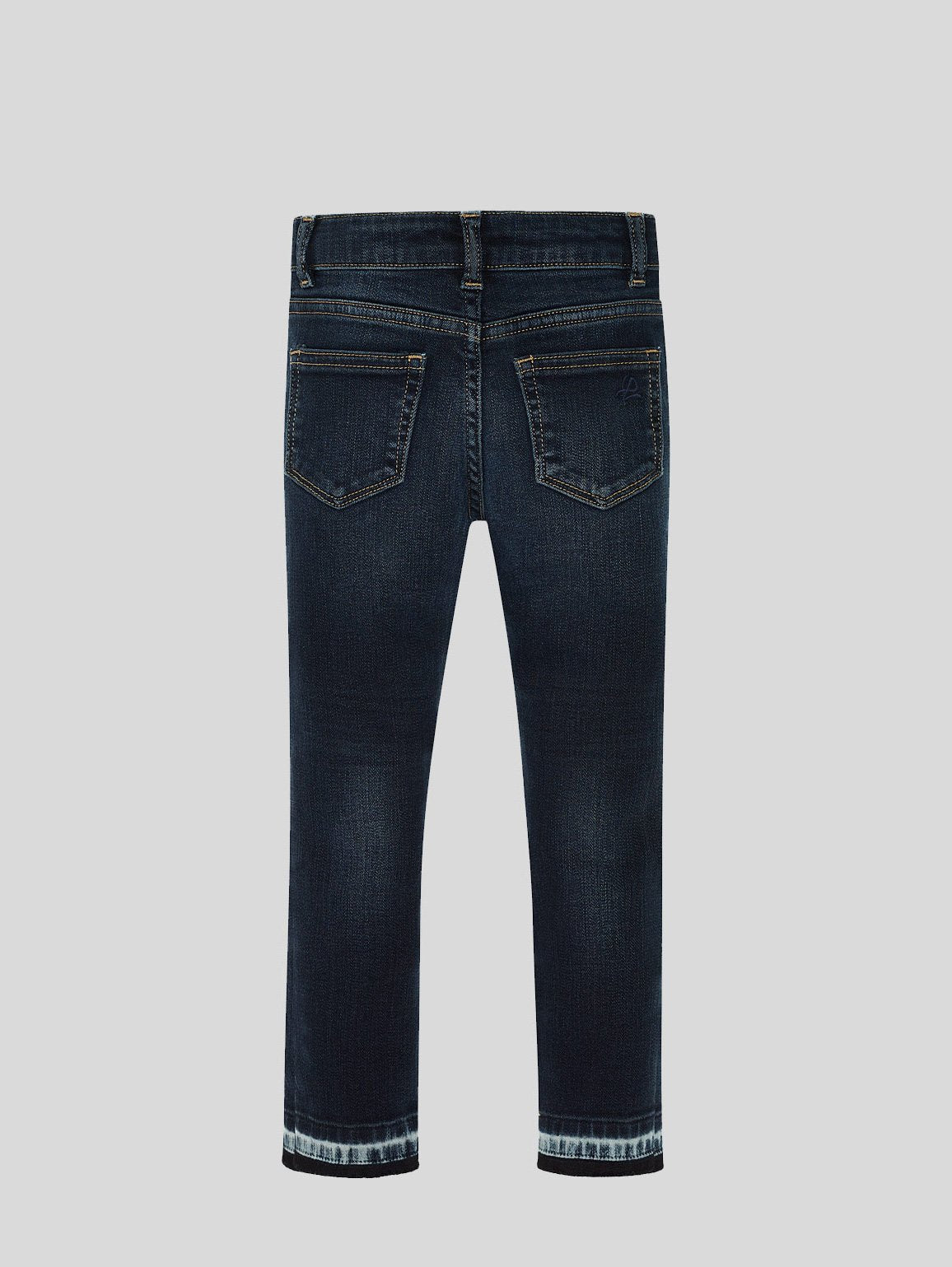 Girls - Slashed Knee Dark Wash Denim - Chloe/G Skinny Grizzly - DL1961