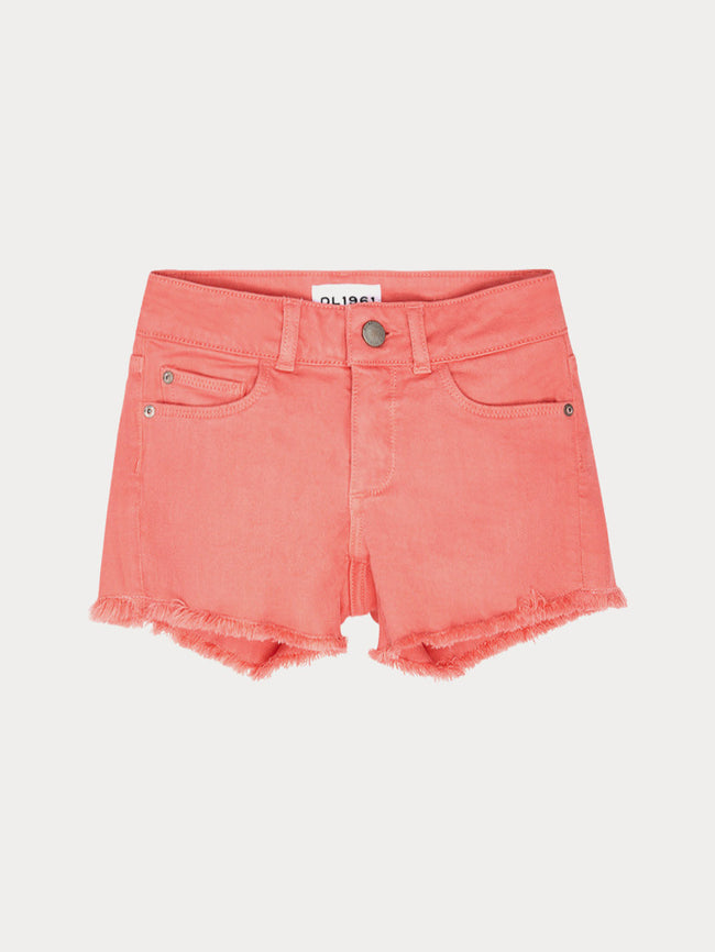 Girls - Coral Denim Shorts - Lucy/G Short Sunset - DL1961
