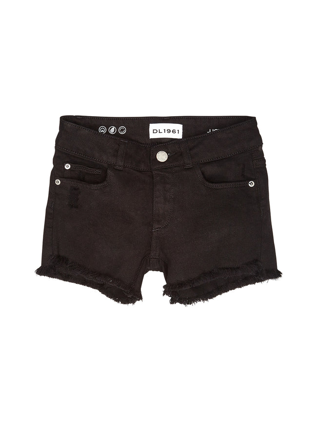 Girls - Black Denim Shorts - Lucy/G Short Arrowhead - DL1961