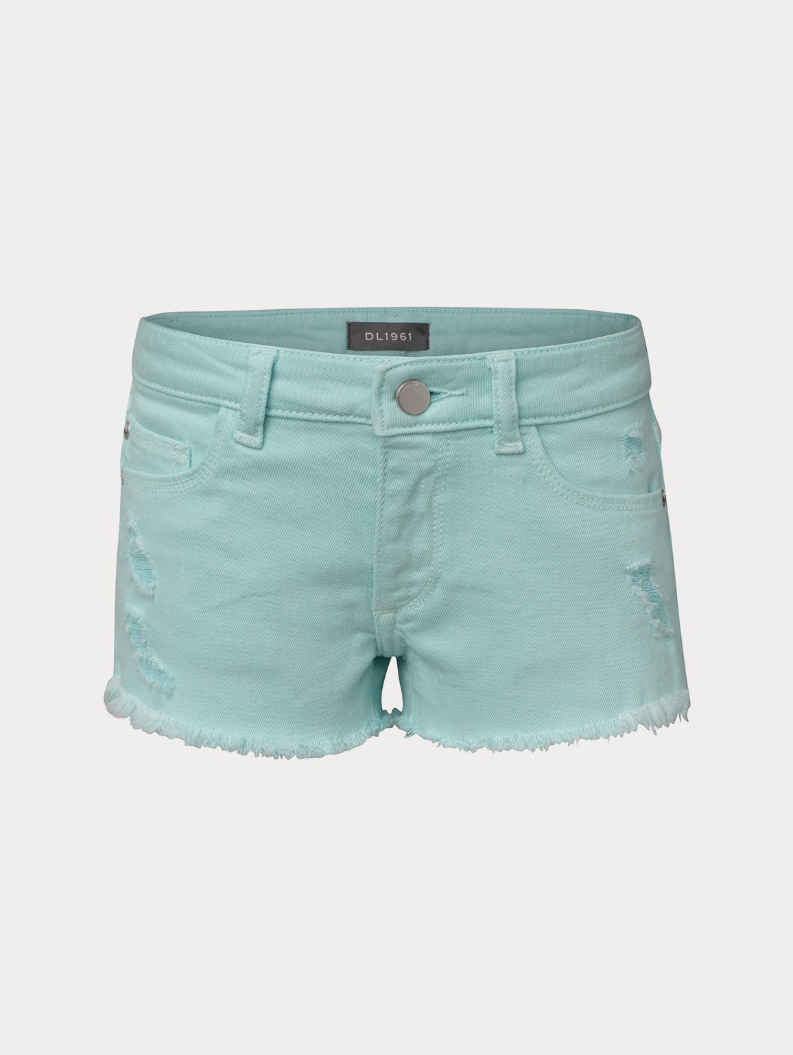 Lucy Cut Off Short | Bleached Aqua