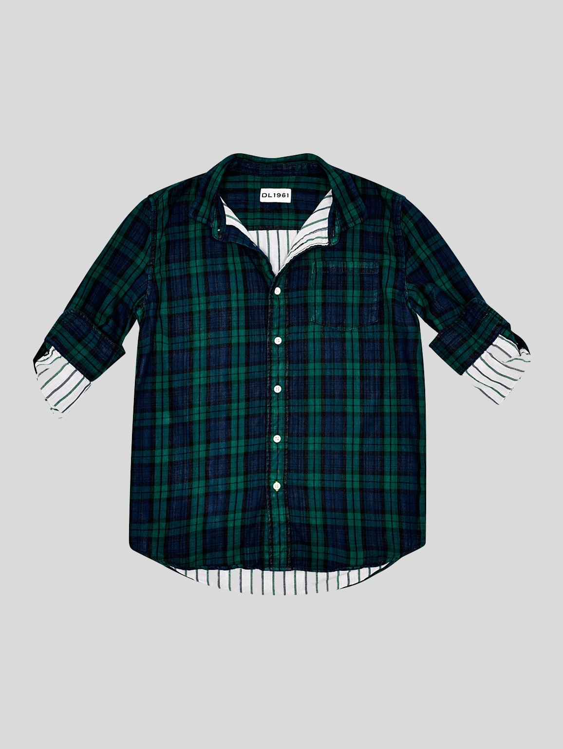 Image of Ash Unisex / Green Double Face Plaid
