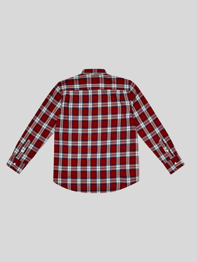 Toddler Boys - Ash Unisex Red Plaid W. Paint Splatters - DL1961