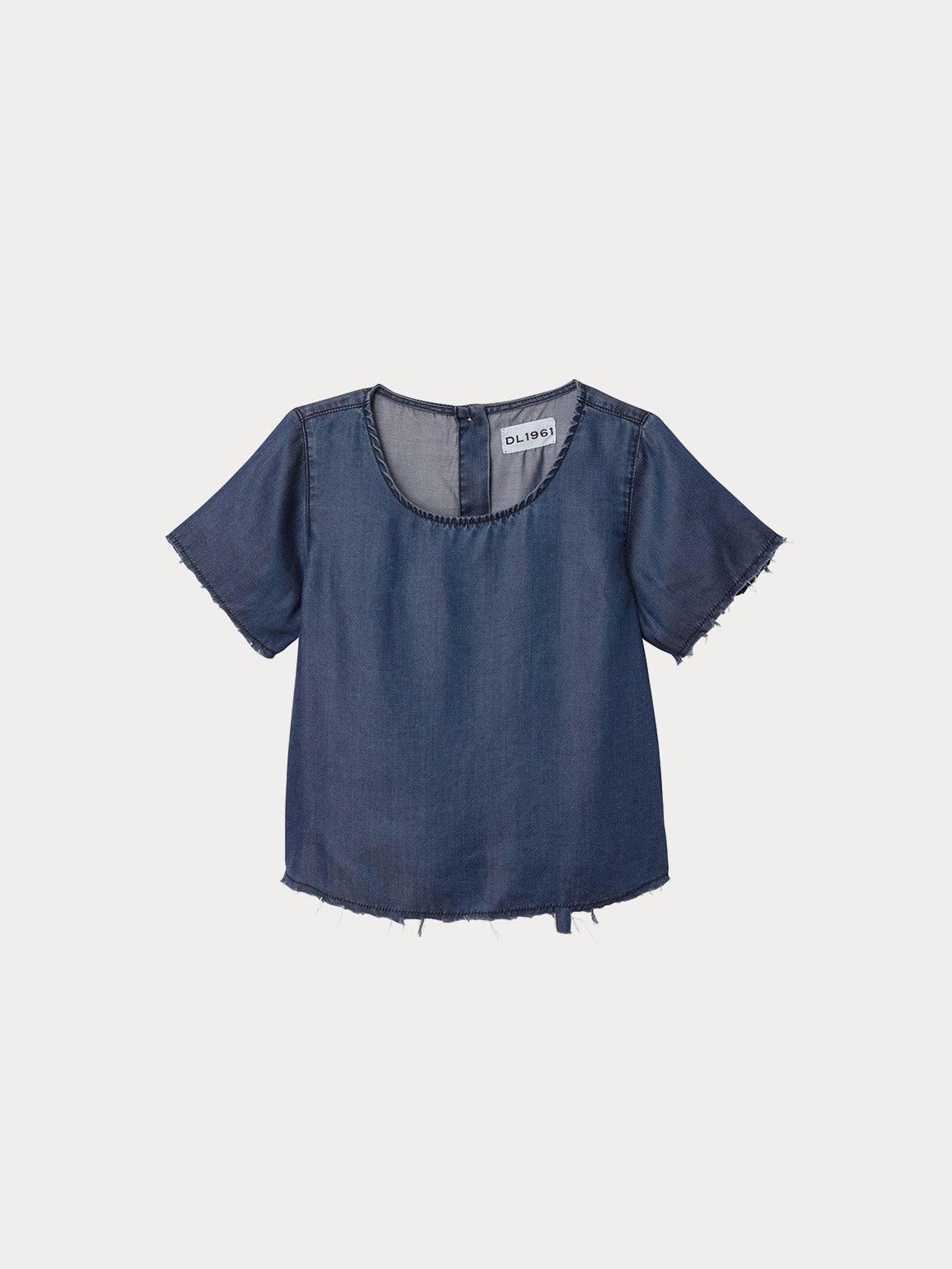 Keira Toddler Short Sleeve Tee | Dark Rinse