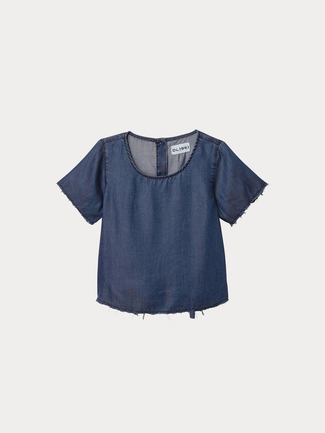 Toddler Girls - Keira Toddler Short Sleeve Tee | Dark Rinse - DL1961
