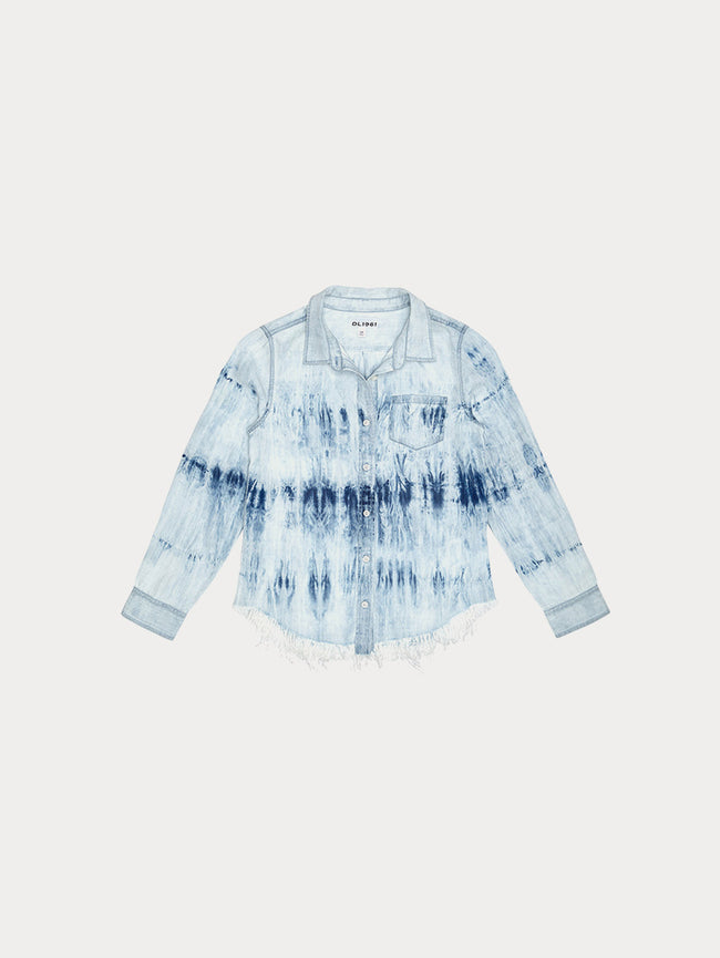 Toddler Girls - Olivia/Tg Shirts Tie Dye W Fringe Hem - DL1961