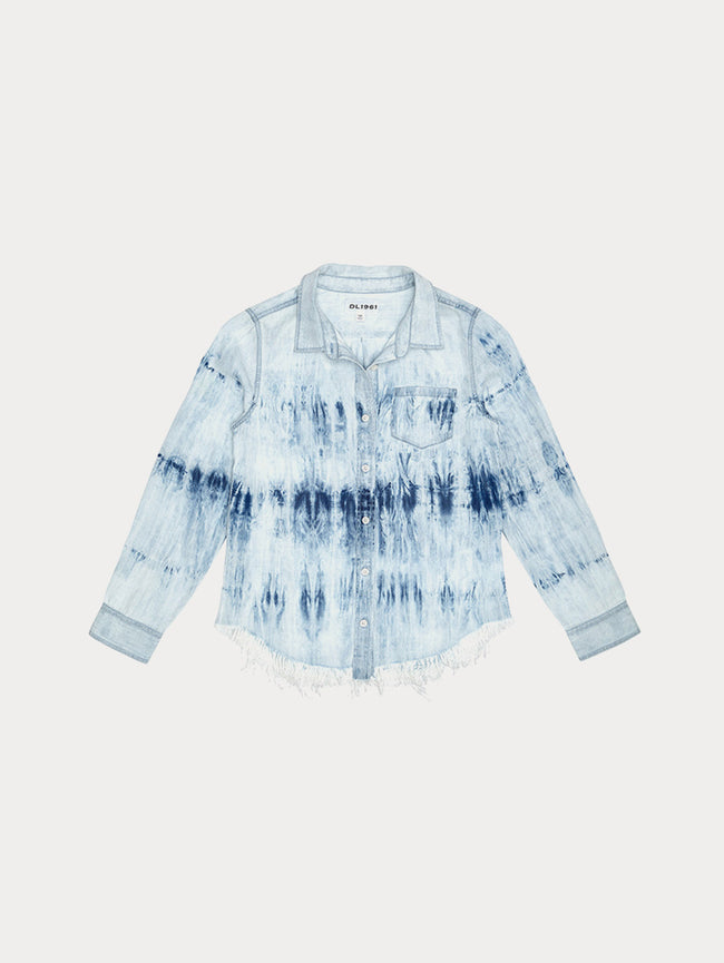 Girls - Olivia Fringe Shirt | Tie Dye - DL1961