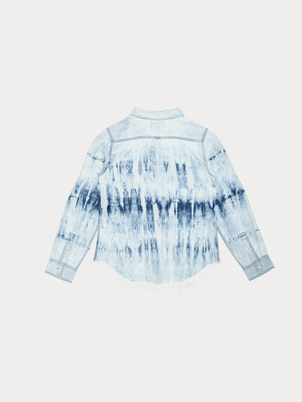 Girls - Tie Dye Button-Down Shirt - Olivia/G Shirts Tie Dye W Fringe Hem - DL1961