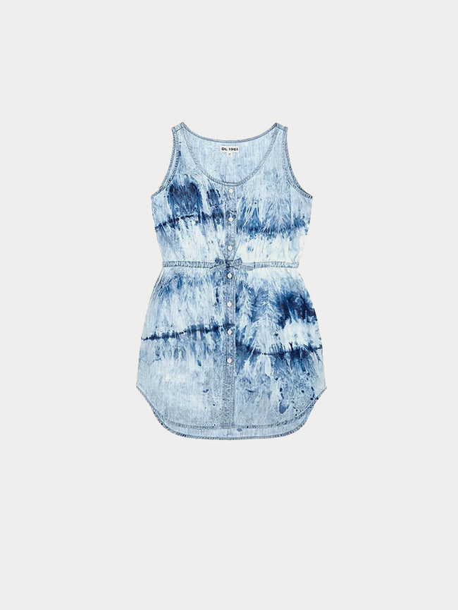 Toddler Girls - Charlie Toddler Tank Dress | Tie Dye - DL1961