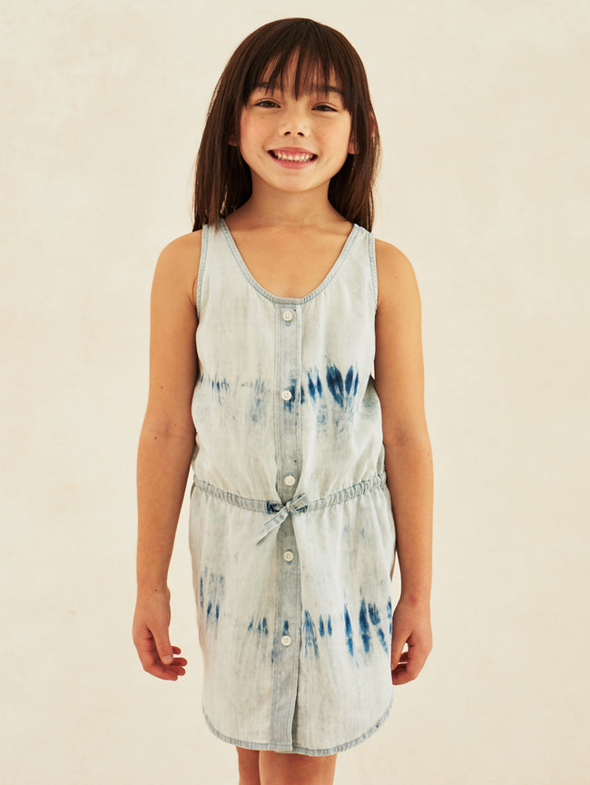 Charlie Toddler Tank Dress Tie Dye