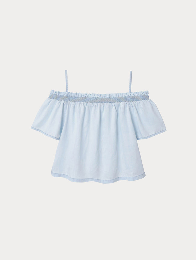 Toddler Girls - Mia/Tg Off The Shoulder Bleach - DL1961