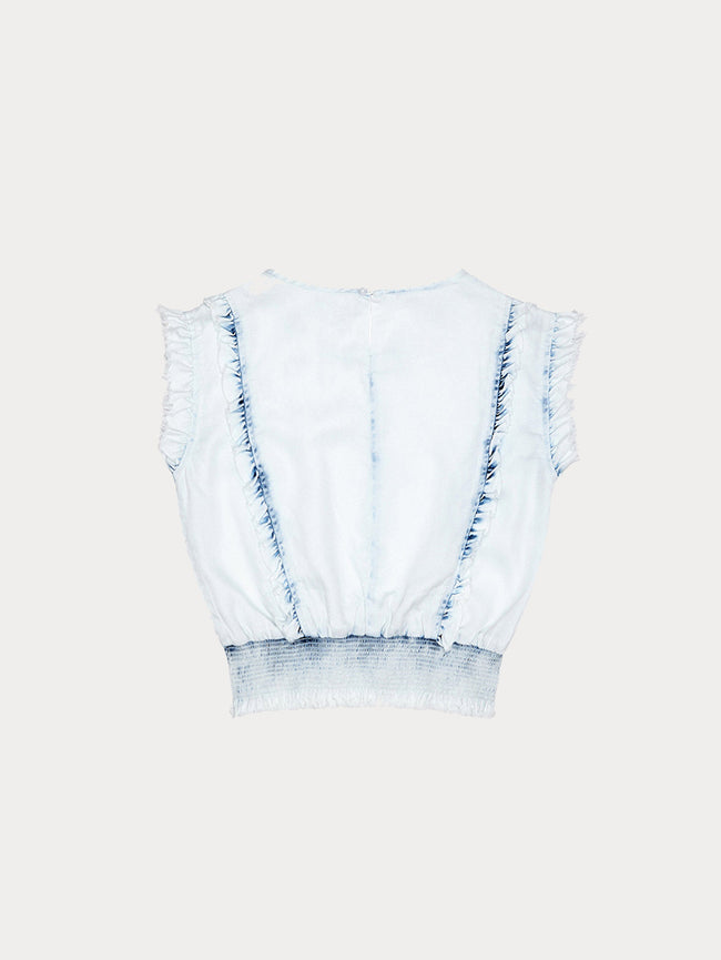 Audrey Toddler Waist Top | Irregular Bleach - DL1961