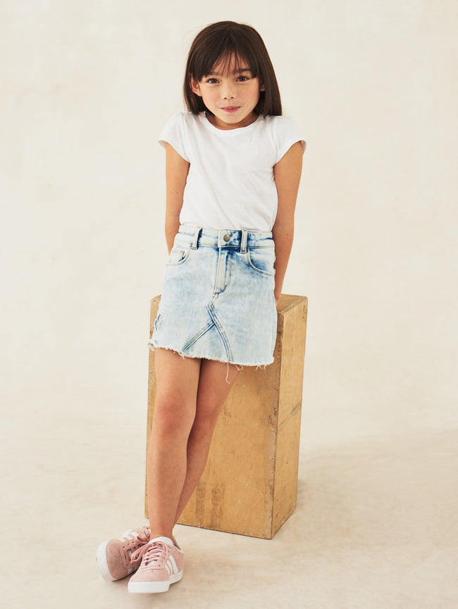 Girls - Bleached Denim Skirt - Jenny/G Skirt Venice Beach - DL1961
