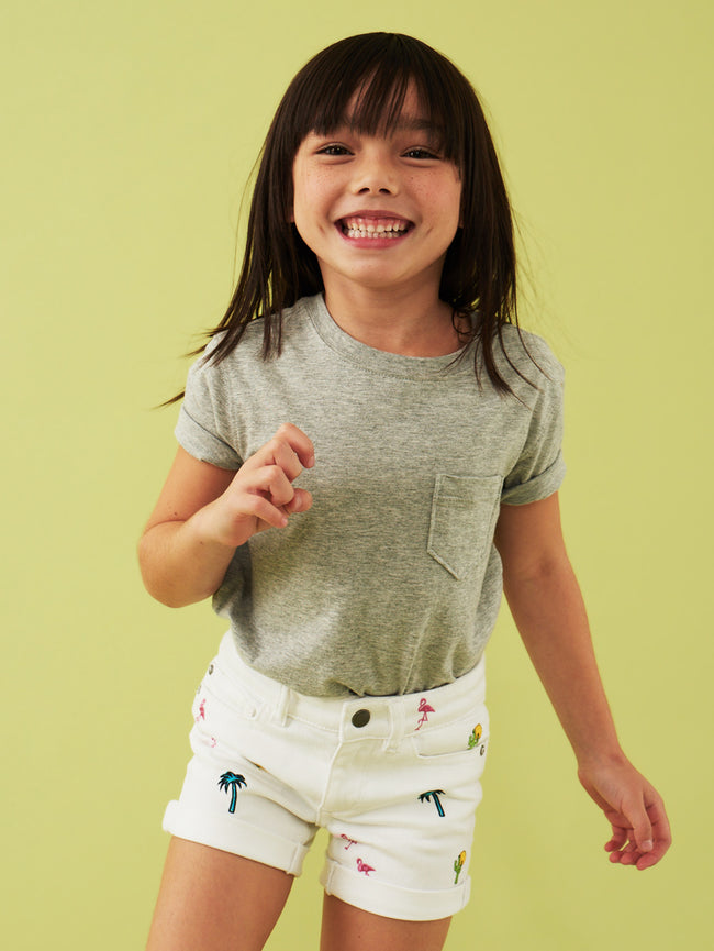 Piper Toddler Cuffed Short | Palm Desert DL 1961 Denim