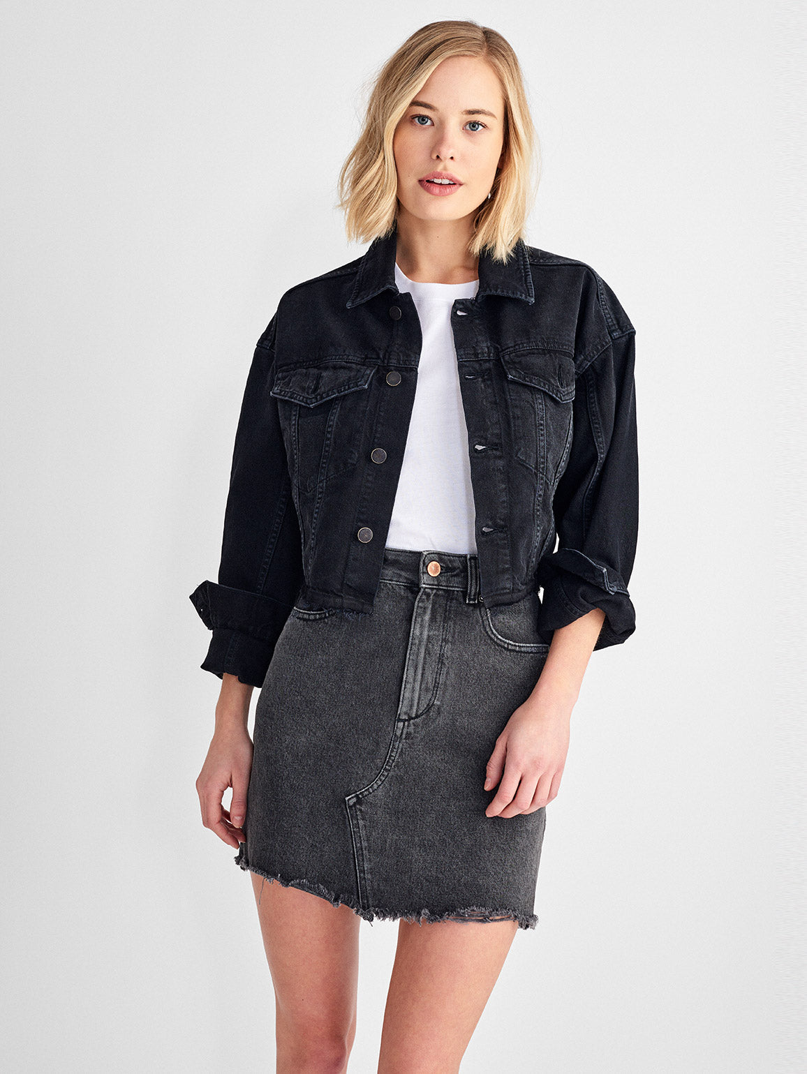 Annie Cropped Oversized Jacket | Blackburn