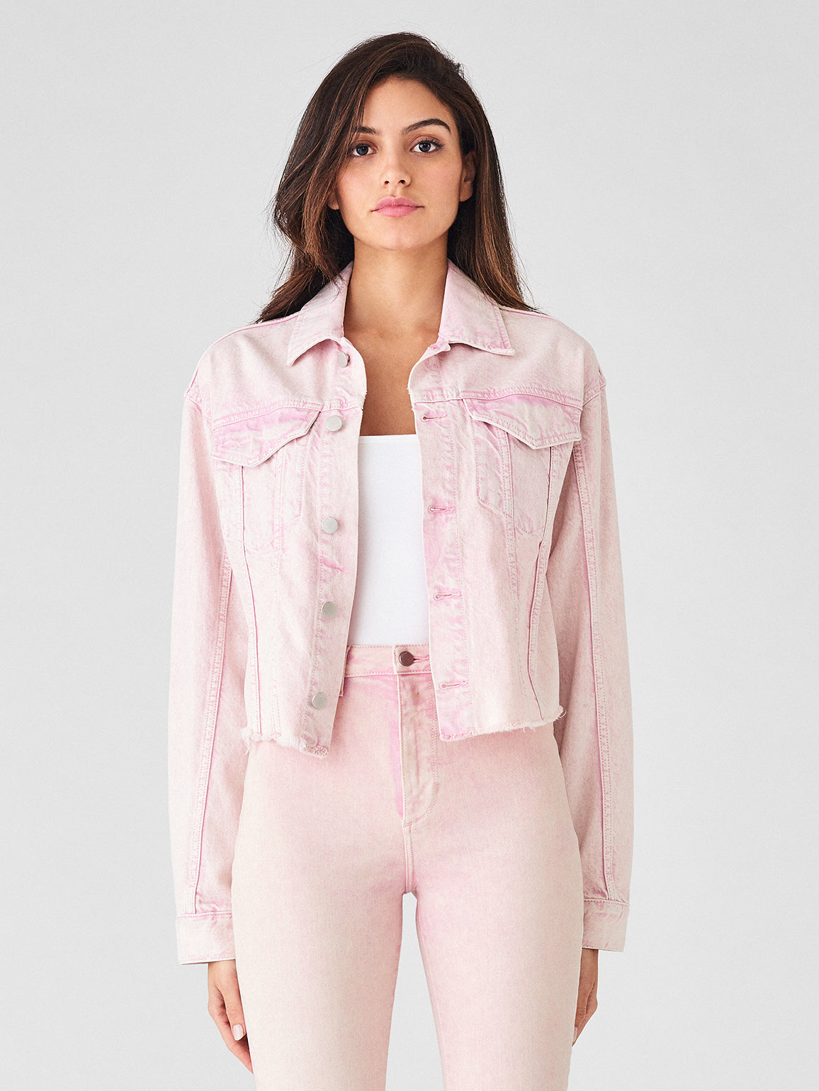 Annie Cropped Jacket | Acid Pink