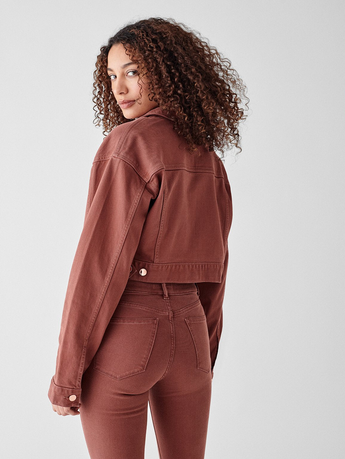 Annie Cropped Oversized Jacket |  Redwood