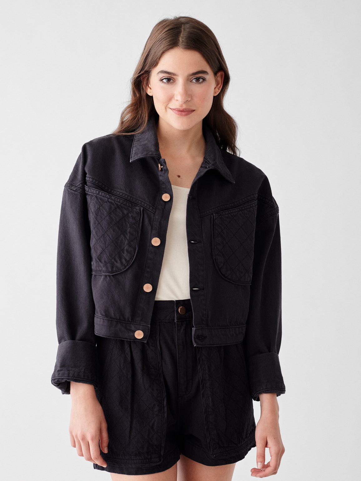 Taryn Cropped Oversized Jacket | Taranto