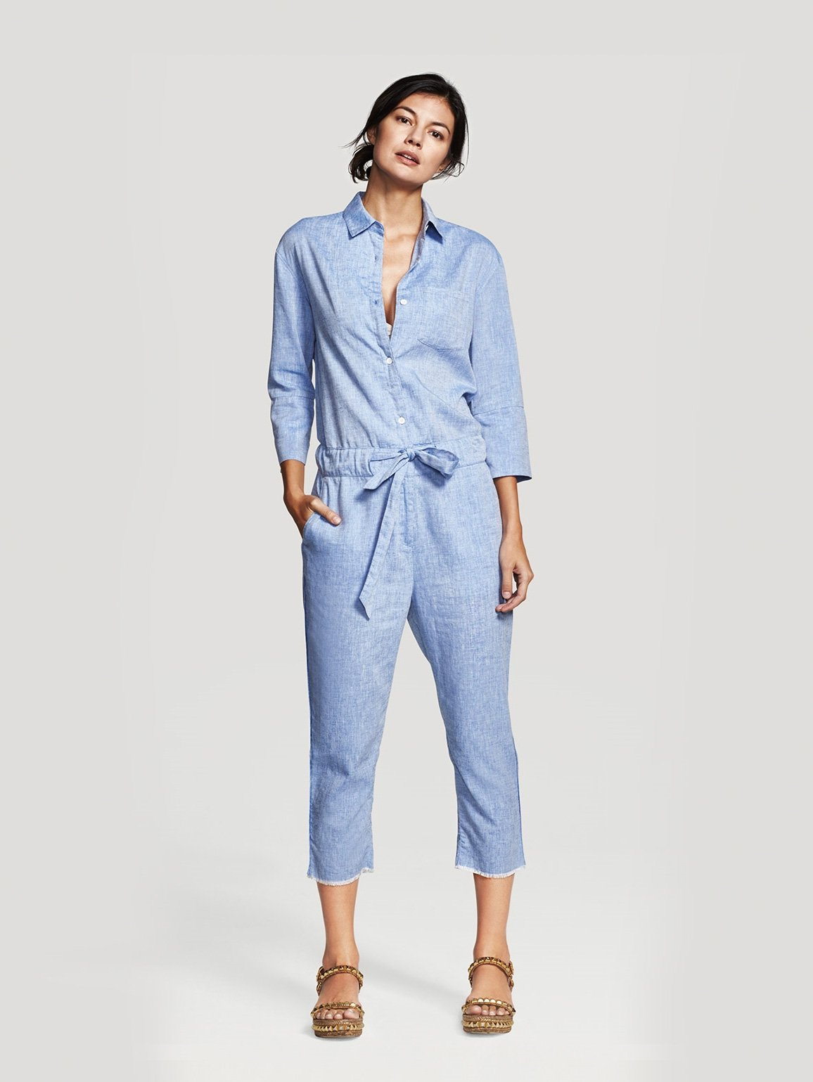 Image of Watermill Jumpsuit / Bright Blue