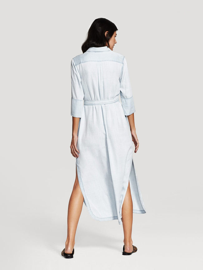 Women Shirt - Fire Island Maxi Dress Bleached - DL1961