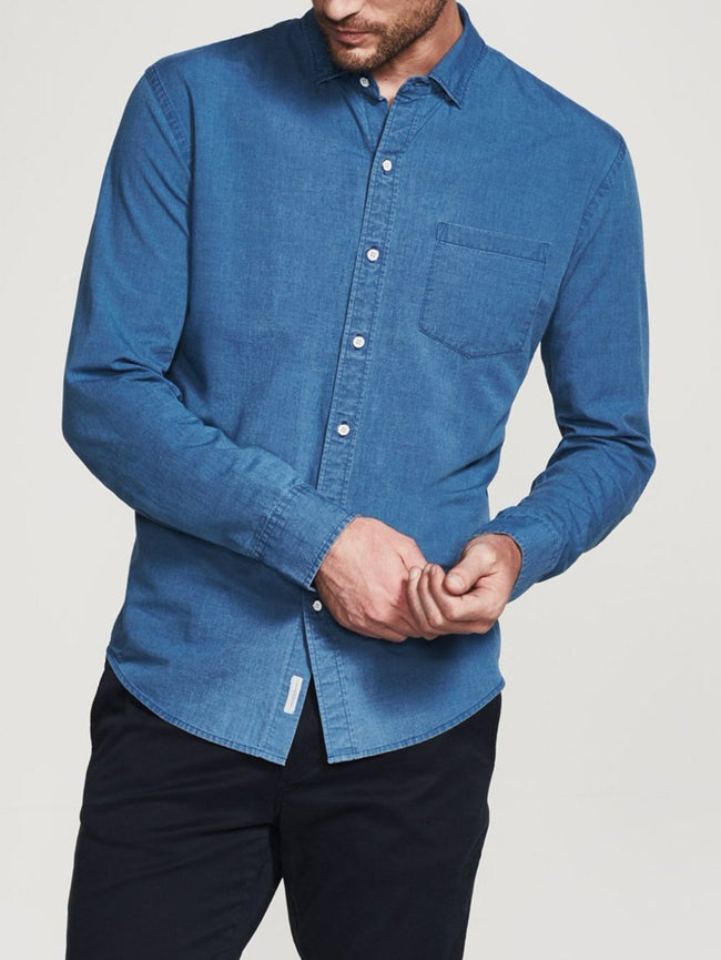 Men Shirt - Bowery & Bleecker Slim Mid Wash - DL1961