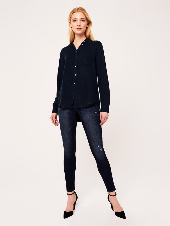 Women Shirt - Mercer & Spring Regular Washed Black Overdye - DL1961