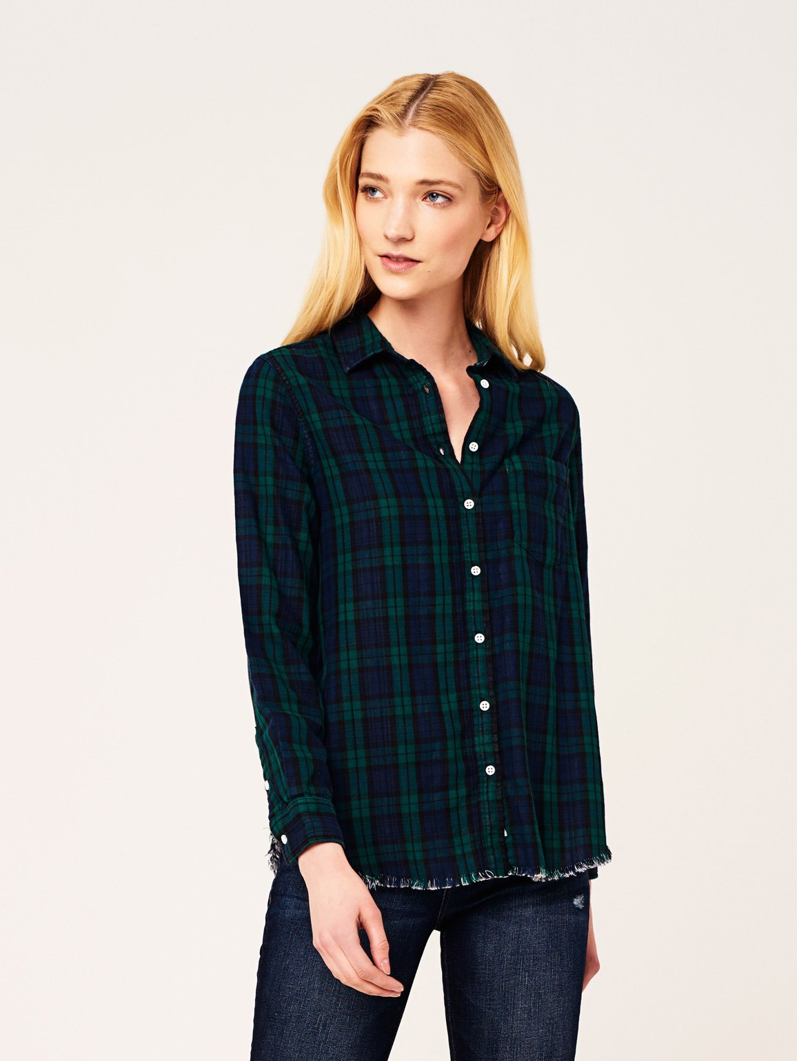 Image of Mercer & Spring Regular / Green Double Face Plaid