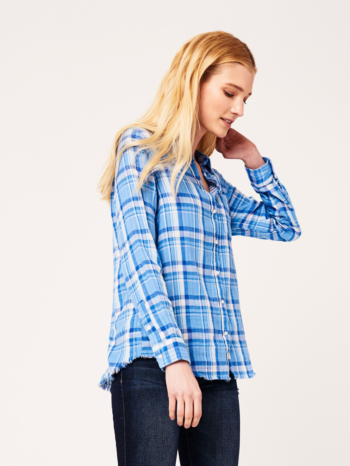 Image of Mercer & Spring Regular / Blue Double Face Plaid