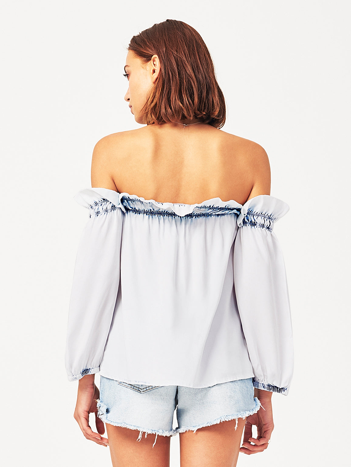 Little W 12th Off The Shoulder Top Irregular Bleach