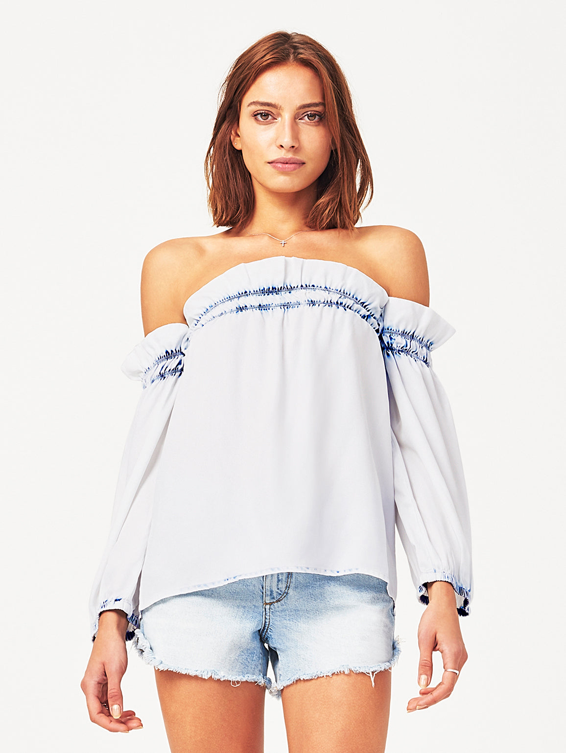Image of Little W 12Th Off The Shoulder Top / Irregular Bleach