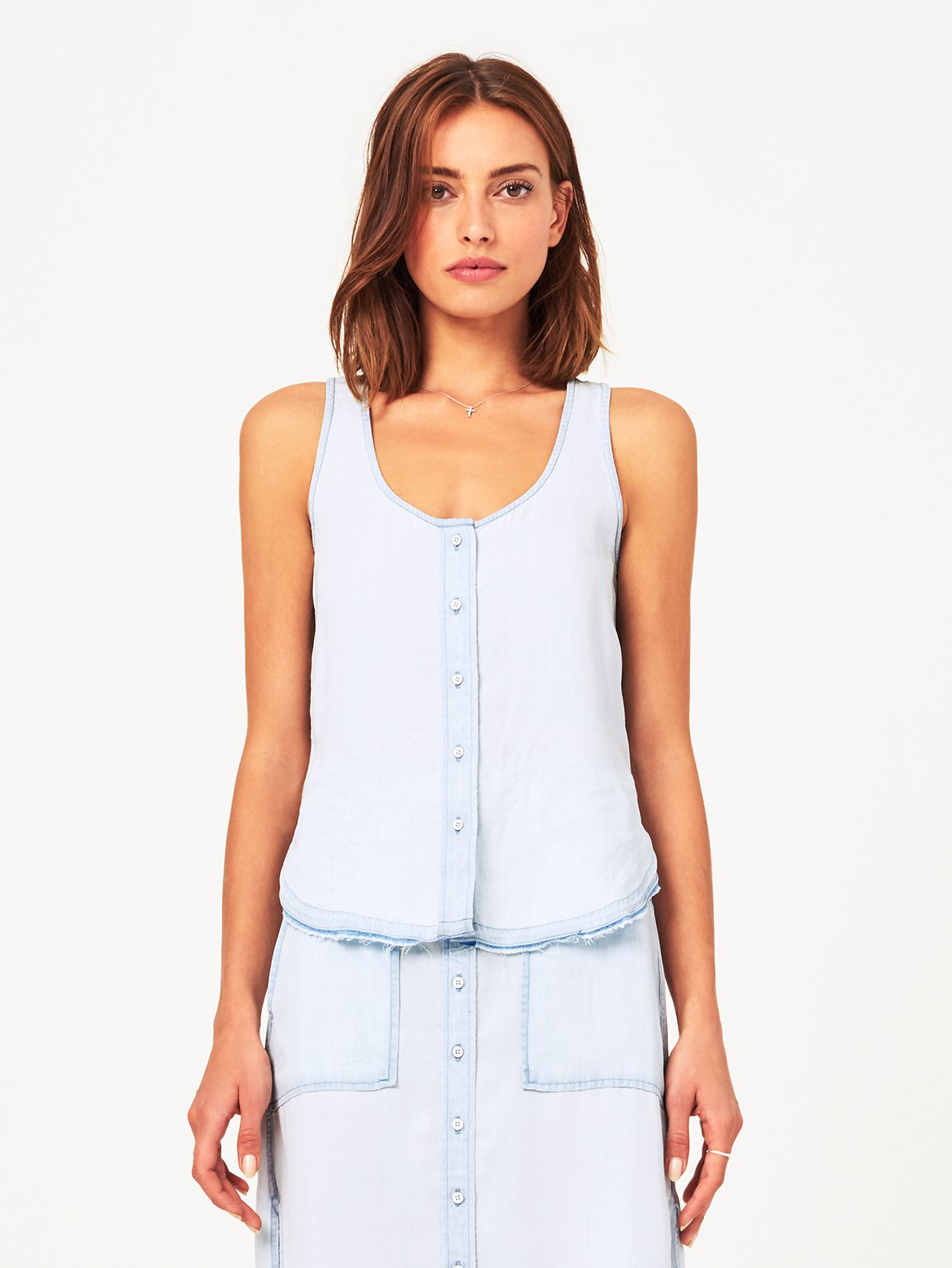 Women Top - N 6Th & Berry Sleeveless Tank | Bleach - DL1961