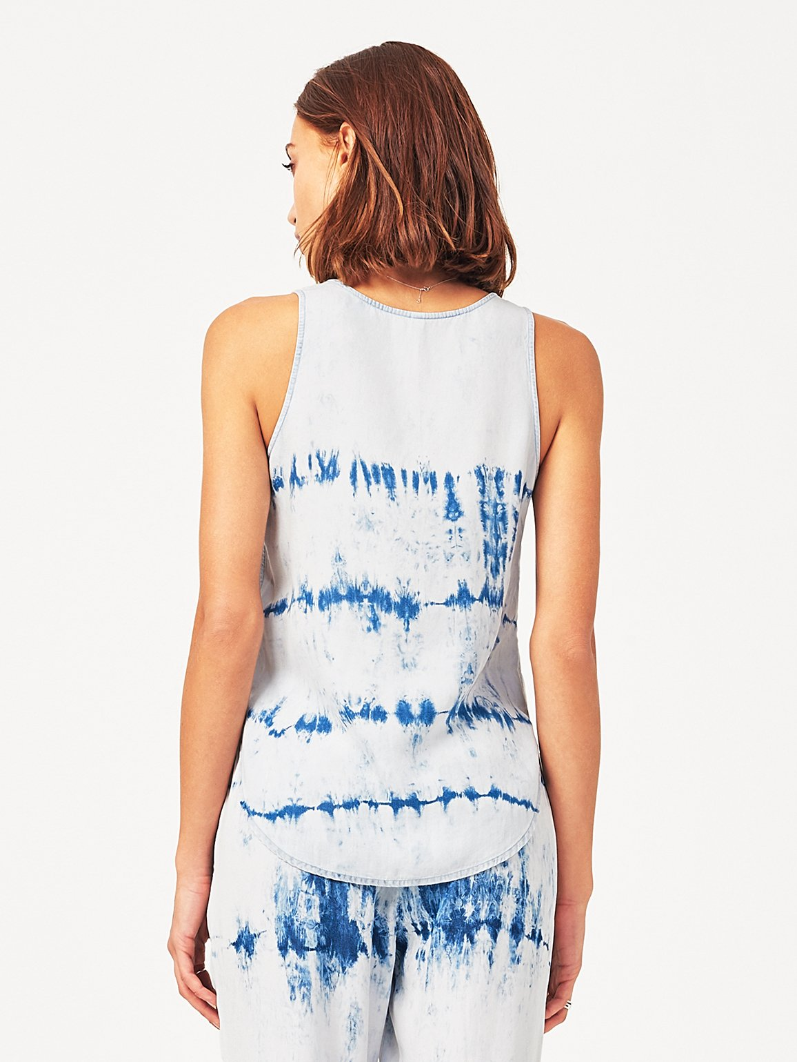 Women Top - N 6Th & Berry Sleeveless Tank | Tie Dye - DL1961