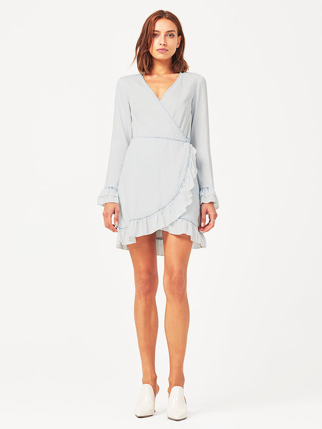Ainsley Wrap Dress Irregular Bleach