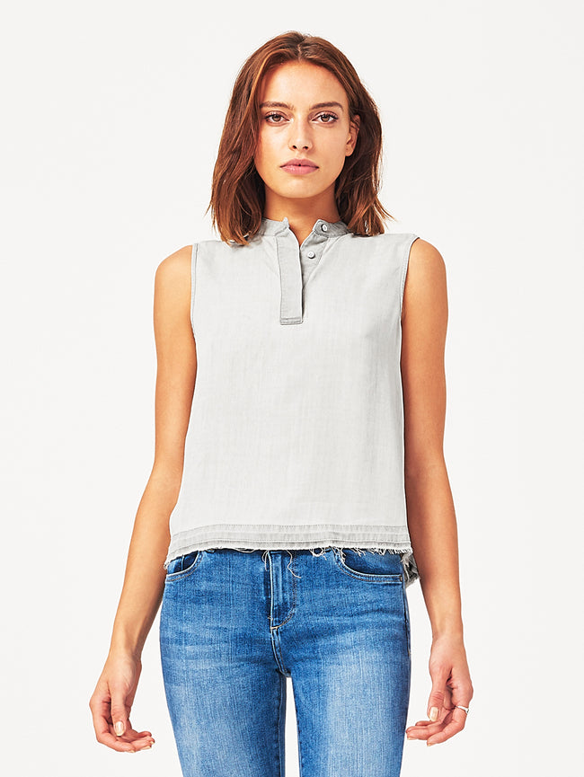 Gansevort Sleeveless Top Bleached Grey