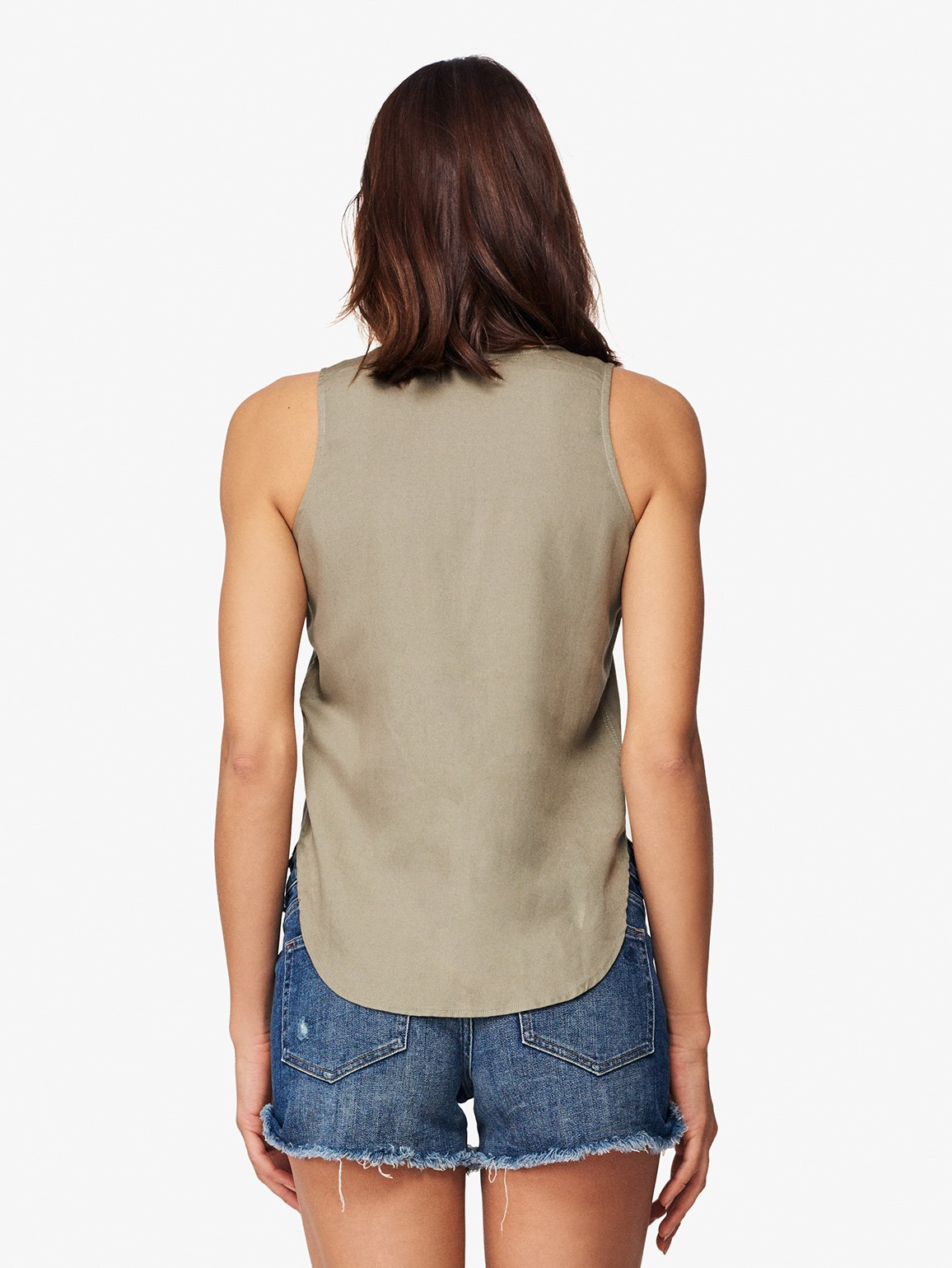Women Shirt - N 6Th & Berry Sleeveless Tank | Sea Grass - DL1961