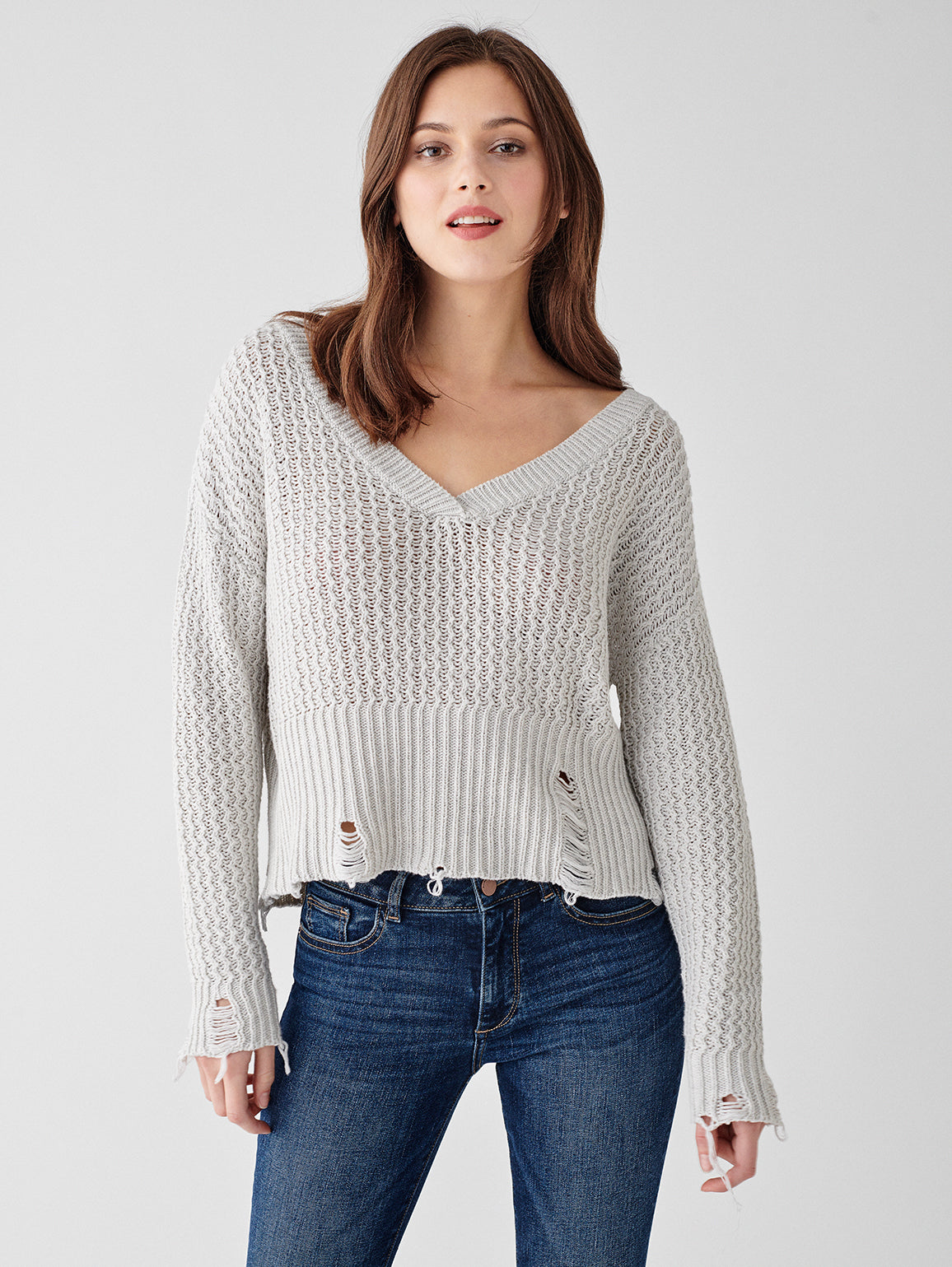 Image of Freeman Alley Pullover / White Heather