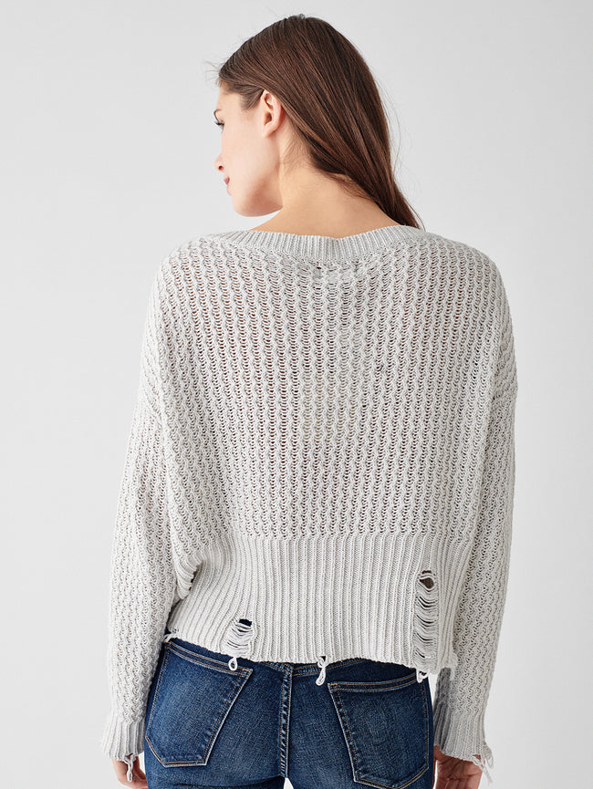 Freeman Alley Pullover | White Heather
