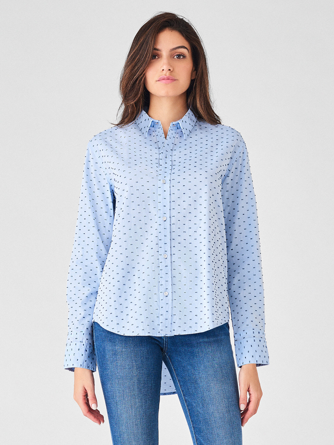 Metropolitan Ave Top | Blue Dotted