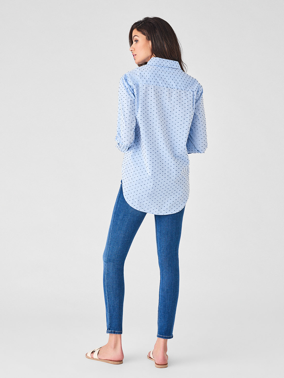 Shirt - Metropolitan Top | Blue Dotted - DL1961