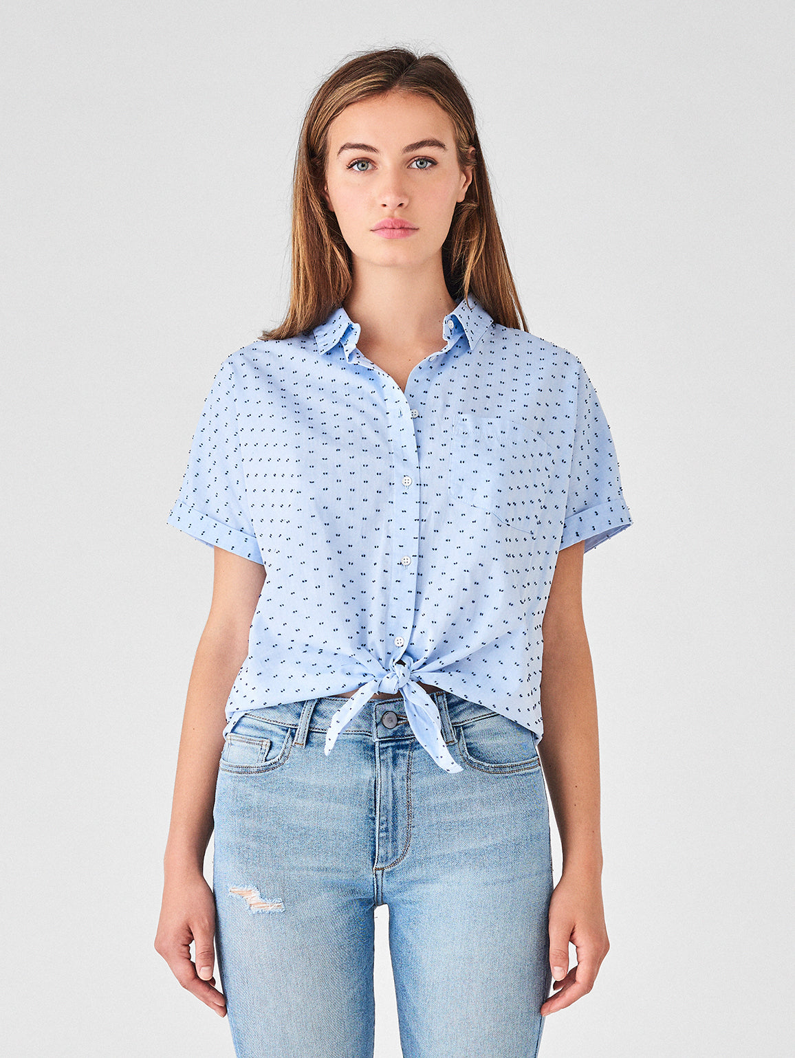 Chrystie St Top | Blue Dotted