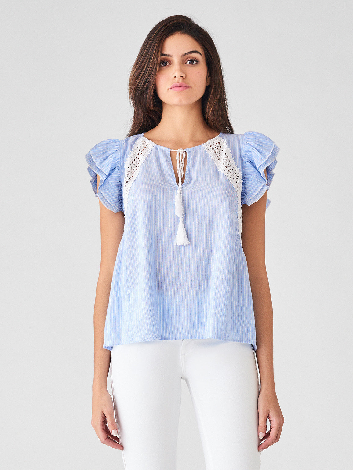 Leroy St Top | Blue Stripe