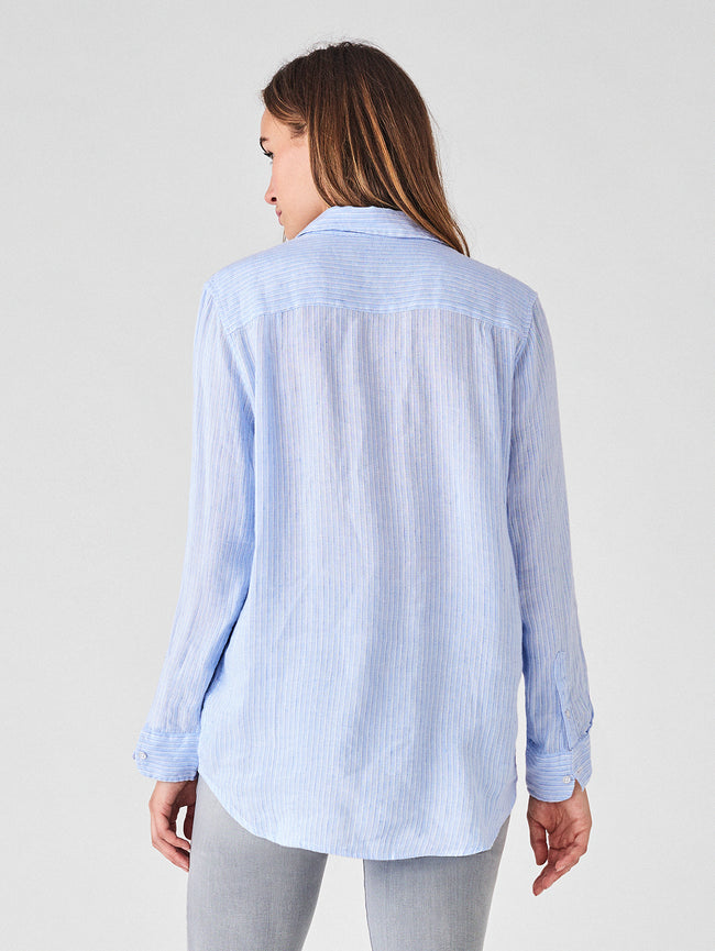 Nassau & Manhattan Top | Blue Stripe