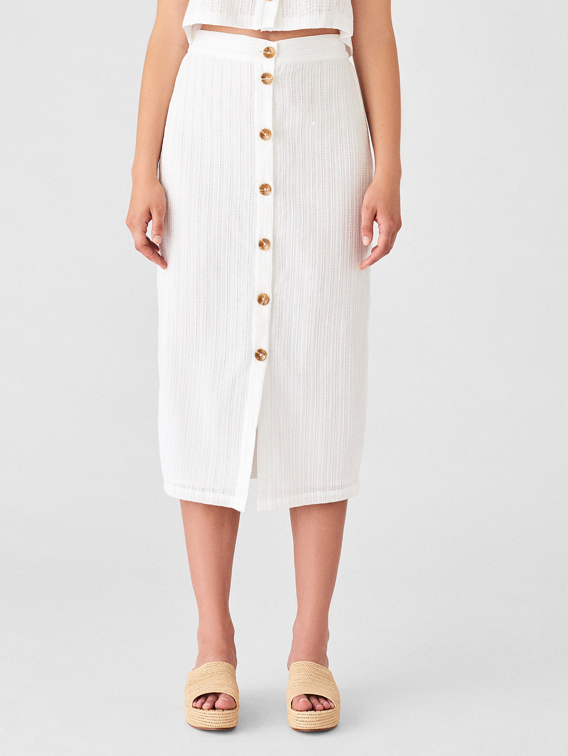 High St Skirt | White Eyelet