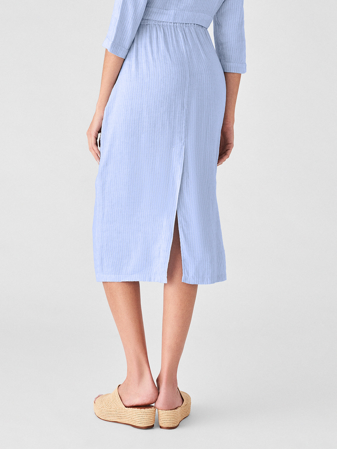 High St Skirt | Blue Stripe