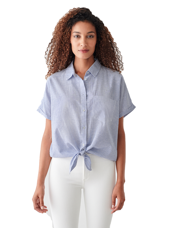 Chrystie St Top | Blue Stripe