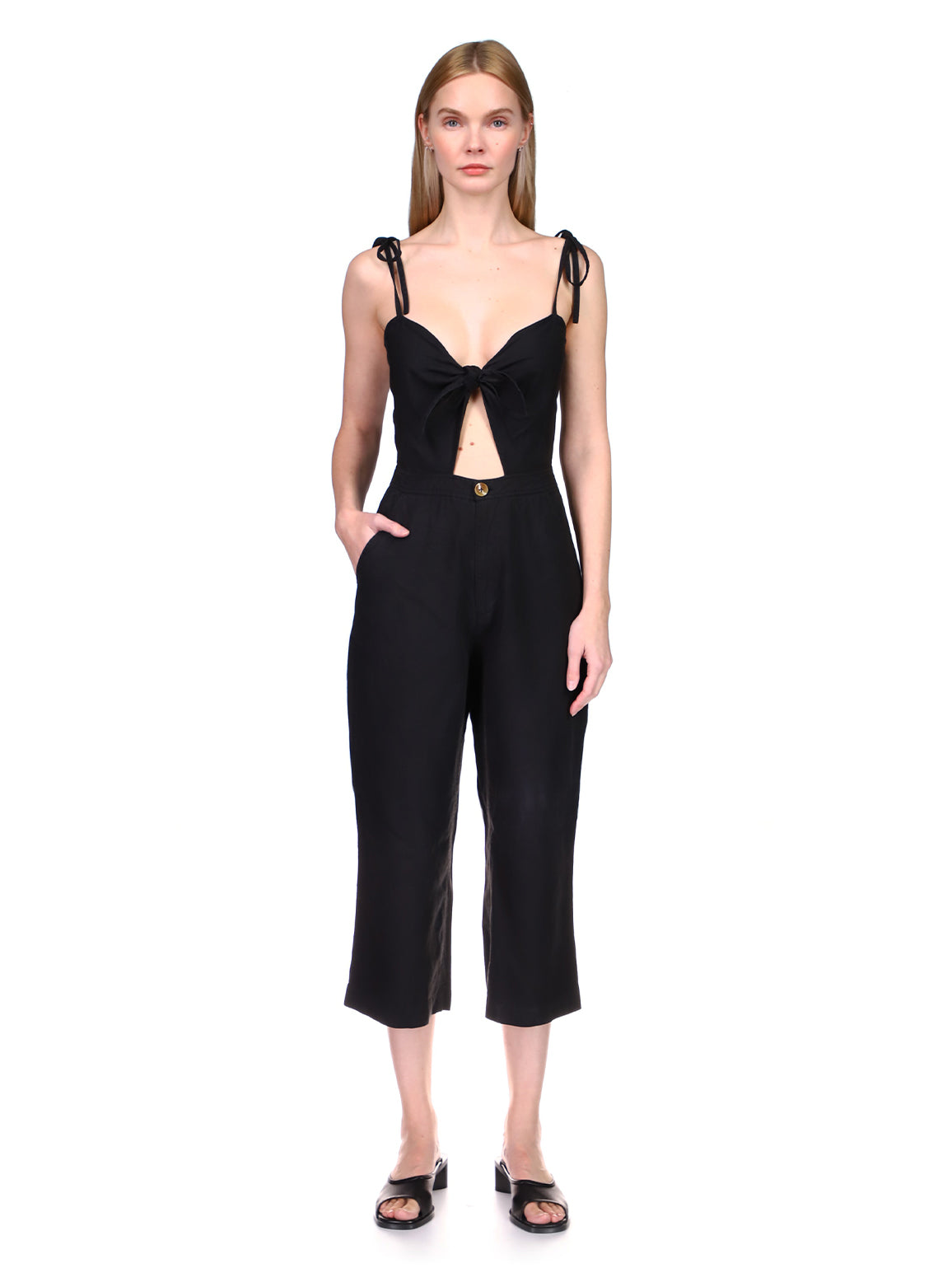 Hepburn Wide Leg Jumpsuit | Black