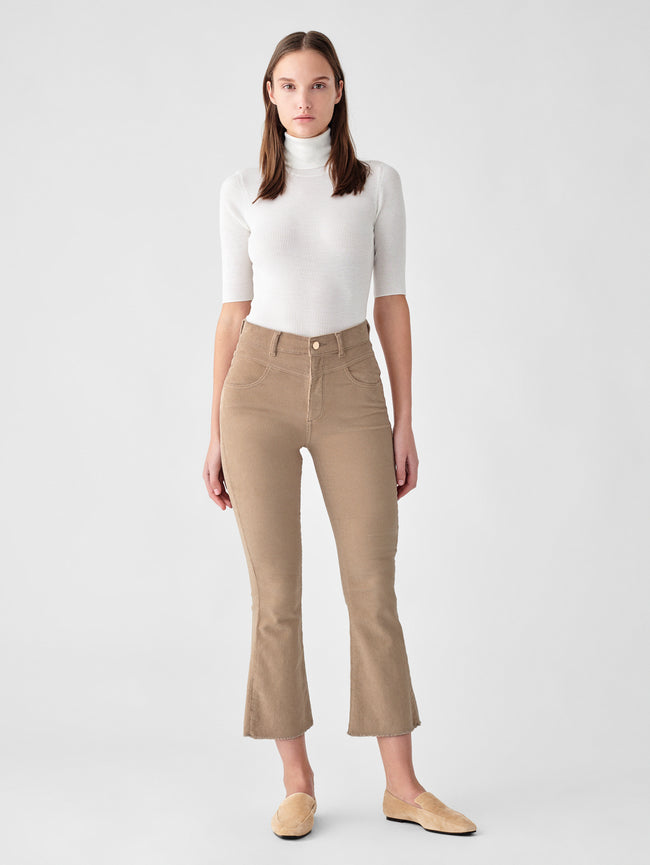 Bridget Crop High Rise Bootcut | Cashew