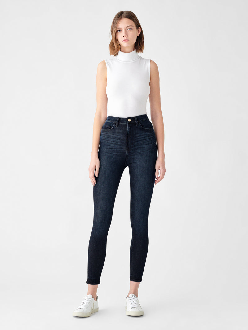 Chrissy Ultra High Rise Ankle Skinny | Graphite