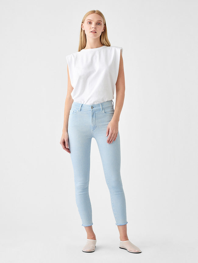 Farrow Crop High Rise Instasculpt Skinny | Cloud Blue