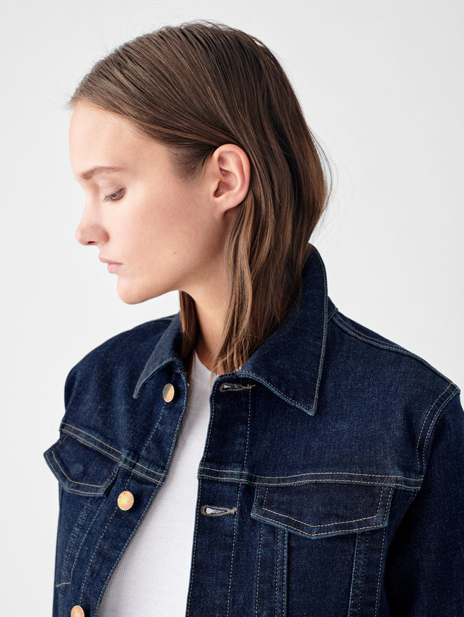 Jane Slim Jean Jacket | Snyder