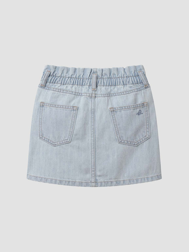 Jenny/G Paper Bag Mini Skirt | Sea Salt